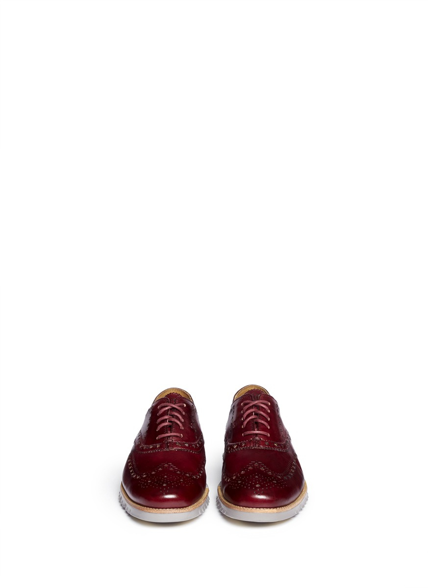Cole Haan 'Zerogrand' Leather Oxfords in Red for Men