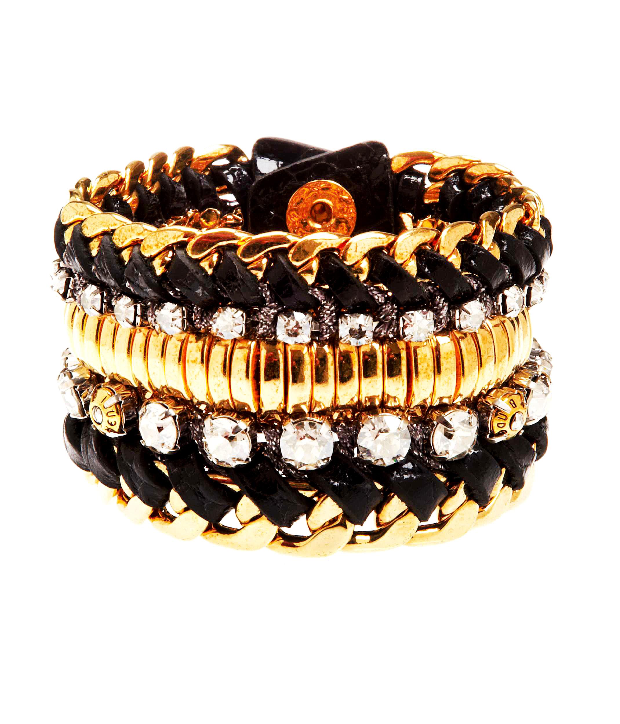 Lyst Henri Bendel Deluxe Girlfriend Beaded Wrap Bracelet In Metallic
