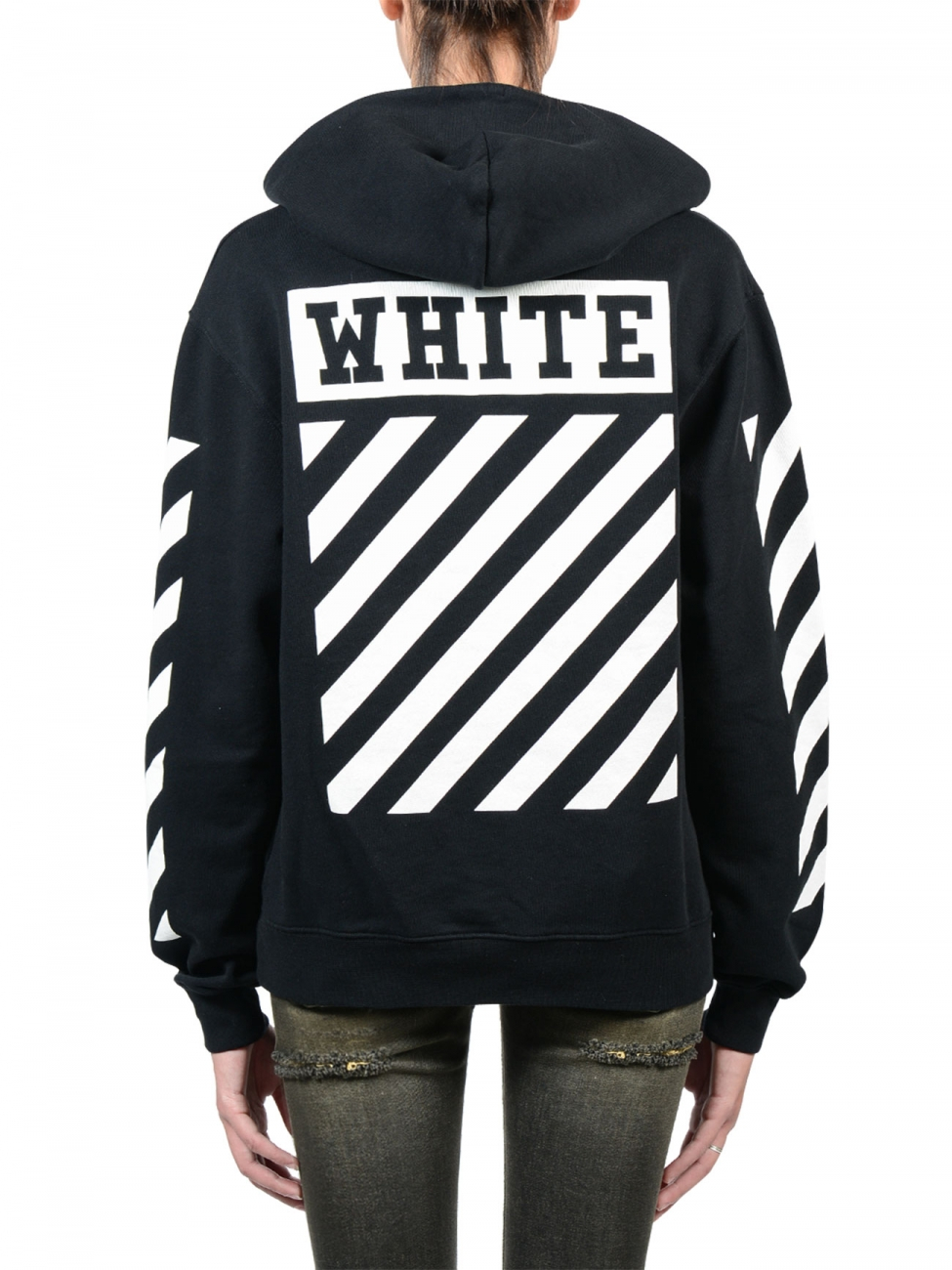 Off-white c/o virgil abloh Caravaggio Black Hoodie in Black | Lyst