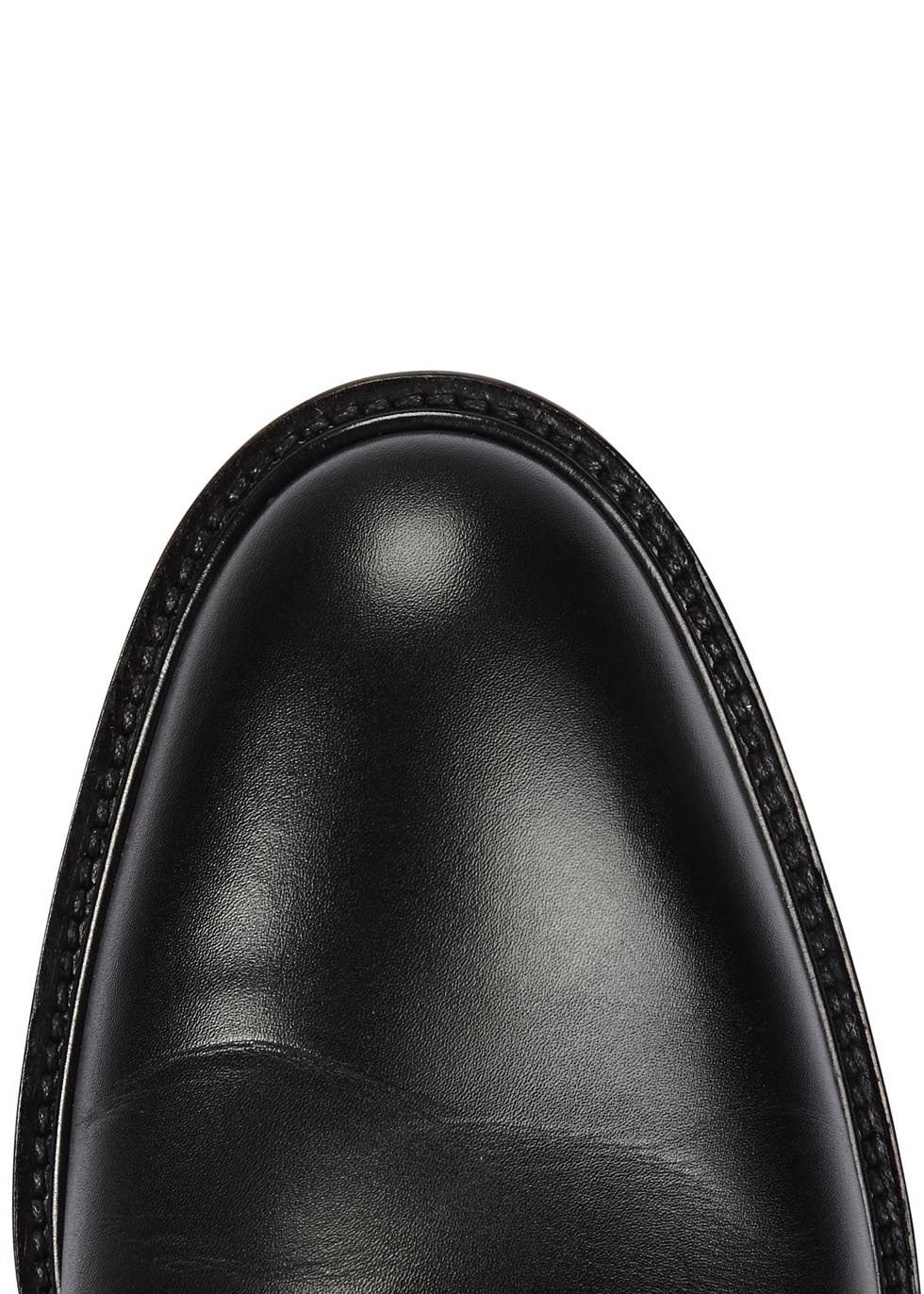 Givenchy Nino Black Glossed Leather Derby Shoes for Men