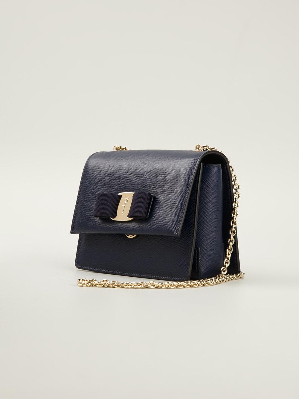 Lyst - Ferragamo Ginny Crossbody Bag in Blue 7a5905d9009b5