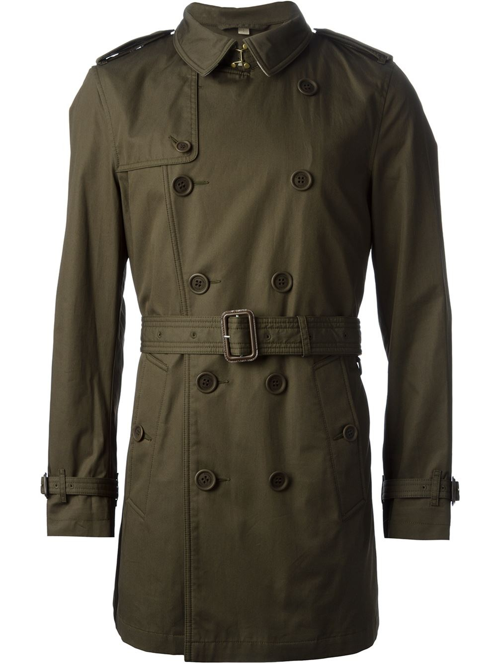 burberry brit classic trench coat in green for men lyst. Black Bedroom Furniture Sets. Home Design Ideas
