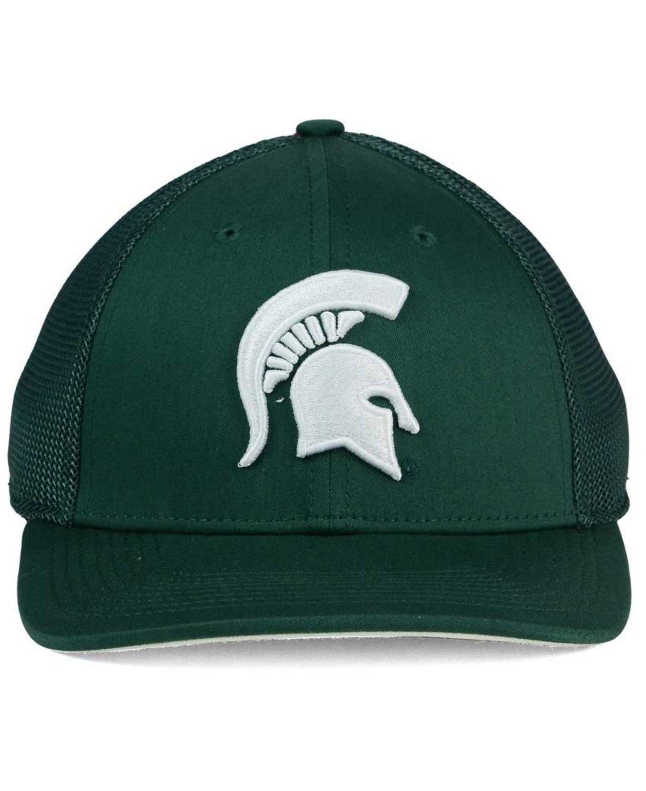 Lyst - Nike Michigan State Spartans L91 Mesh Swoosh Flex Cap in White dda3e161f3df