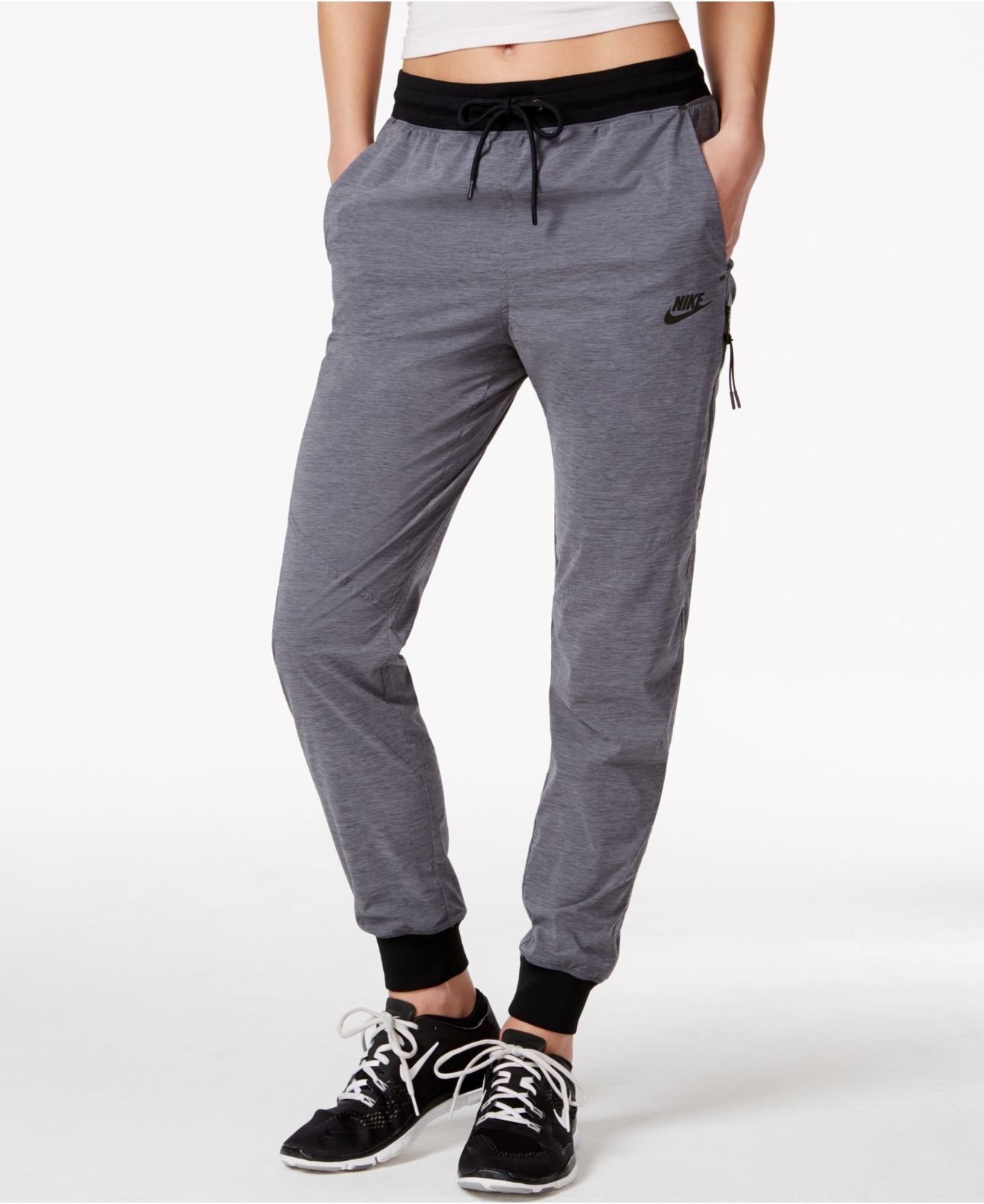 Lastest Nike Womens United Woven Pants Give You Great Allweather Protection And Warmth With An Elastic And Drawstring Waist Band For Comfort The Zipup Ankle Cuffs Allow You To Pull On These Pants While Wearing Soccer Cleats Or Shoes Not