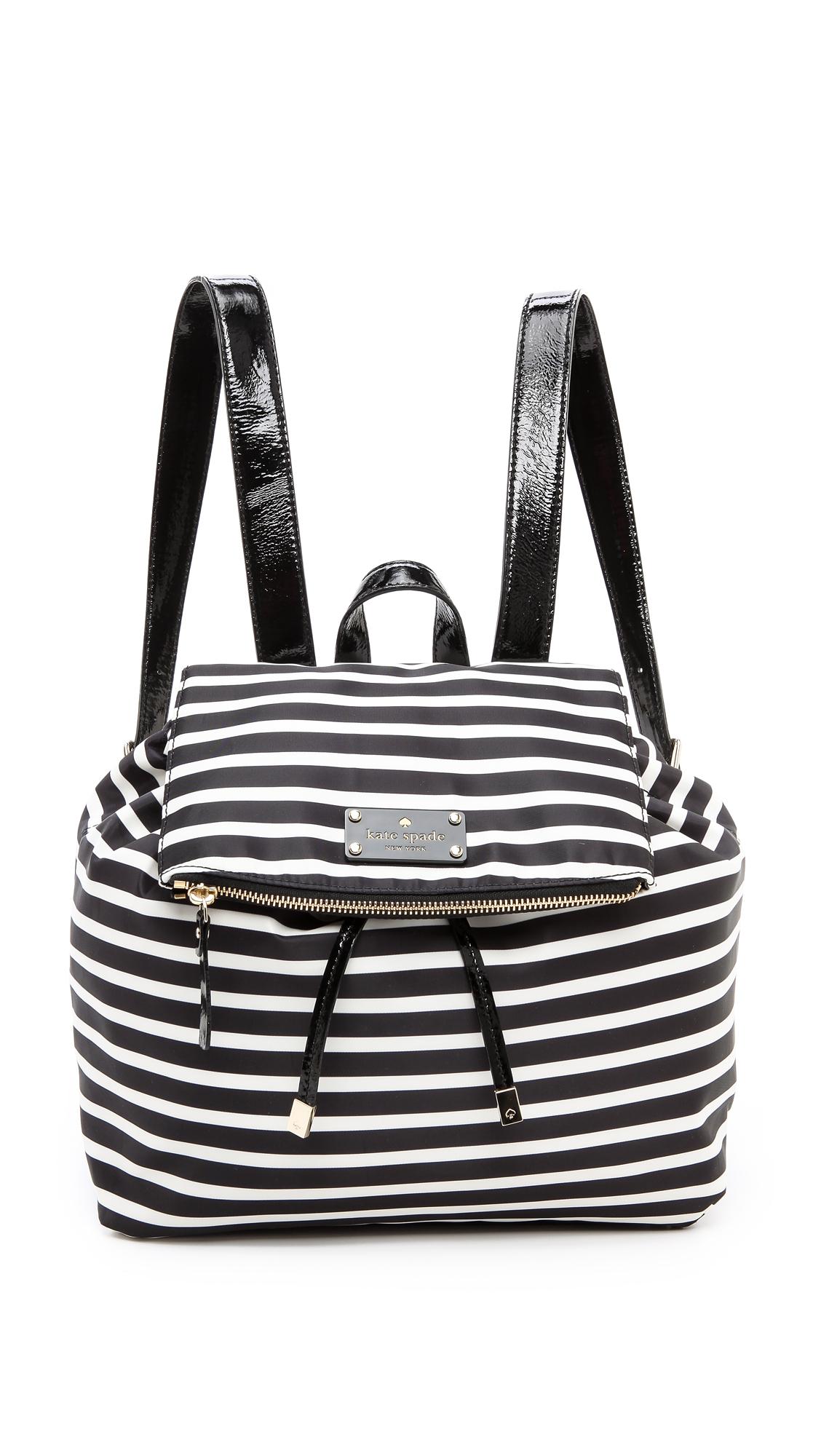 Kate Spade Pattern Backpack in Black (Black/Cream) | Lyst