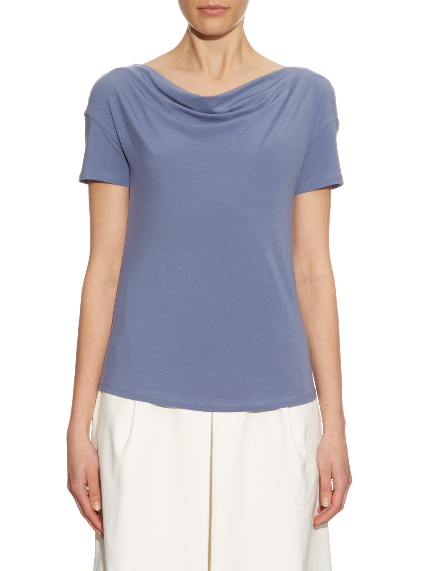 weekend by maxmara multi c t shirt in blue lyst. Black Bedroom Furniture Sets. Home Design Ideas