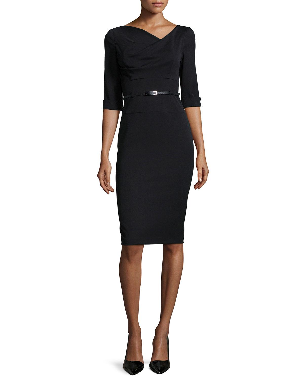 black halo jackie sheath dress in black lyst