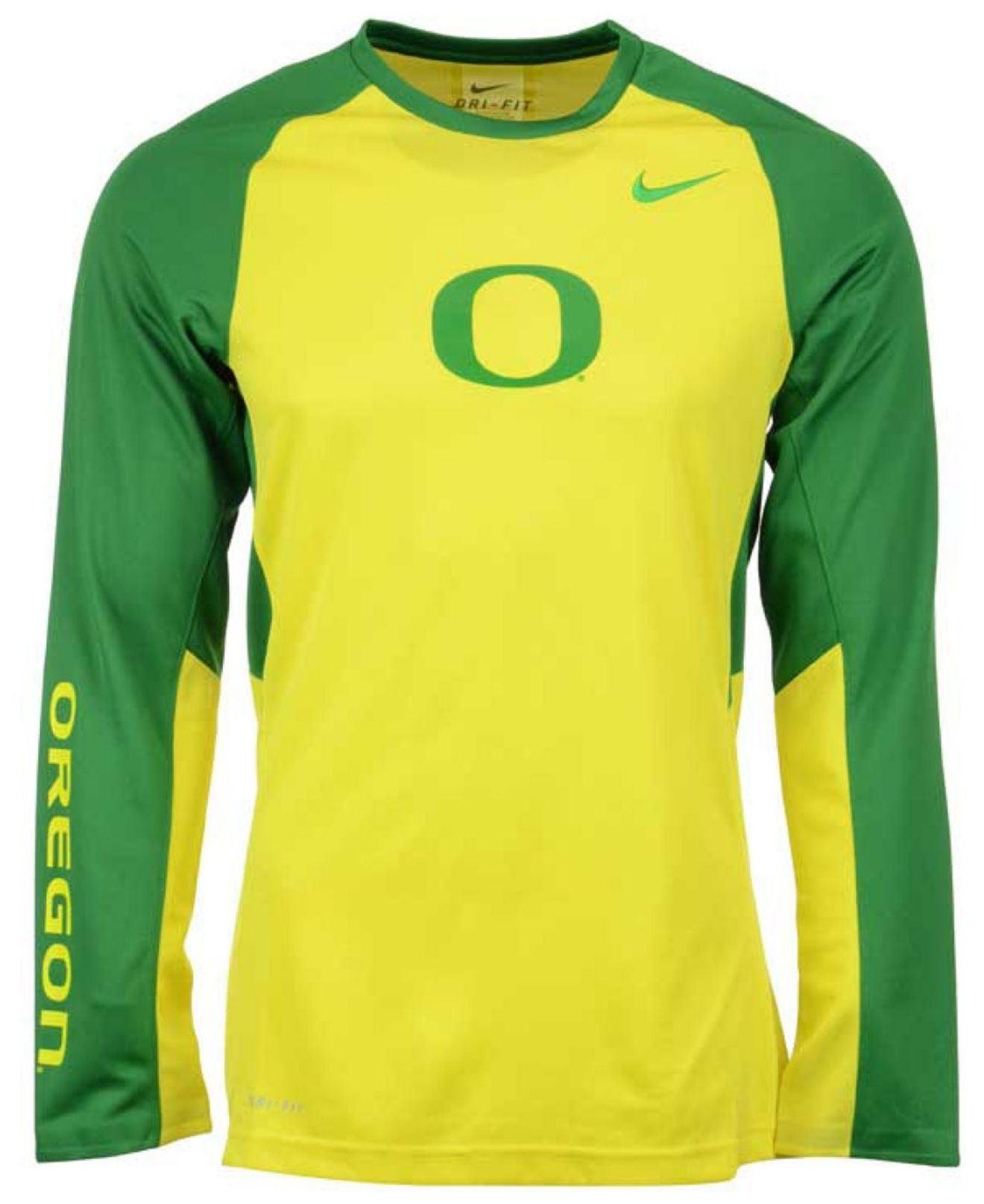 free shipping 416d5 20206 Green Men's Long-sleeve Oregon Ducks Elite Shootaround T-shirt