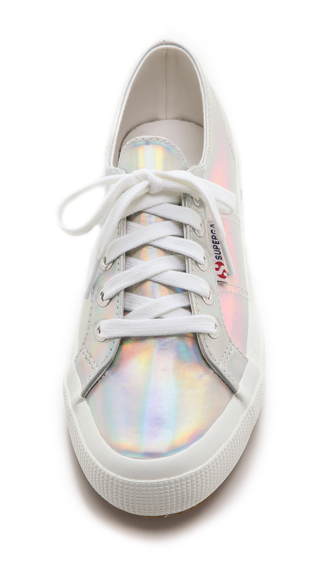 Mirrored Sneakers Silver Foil