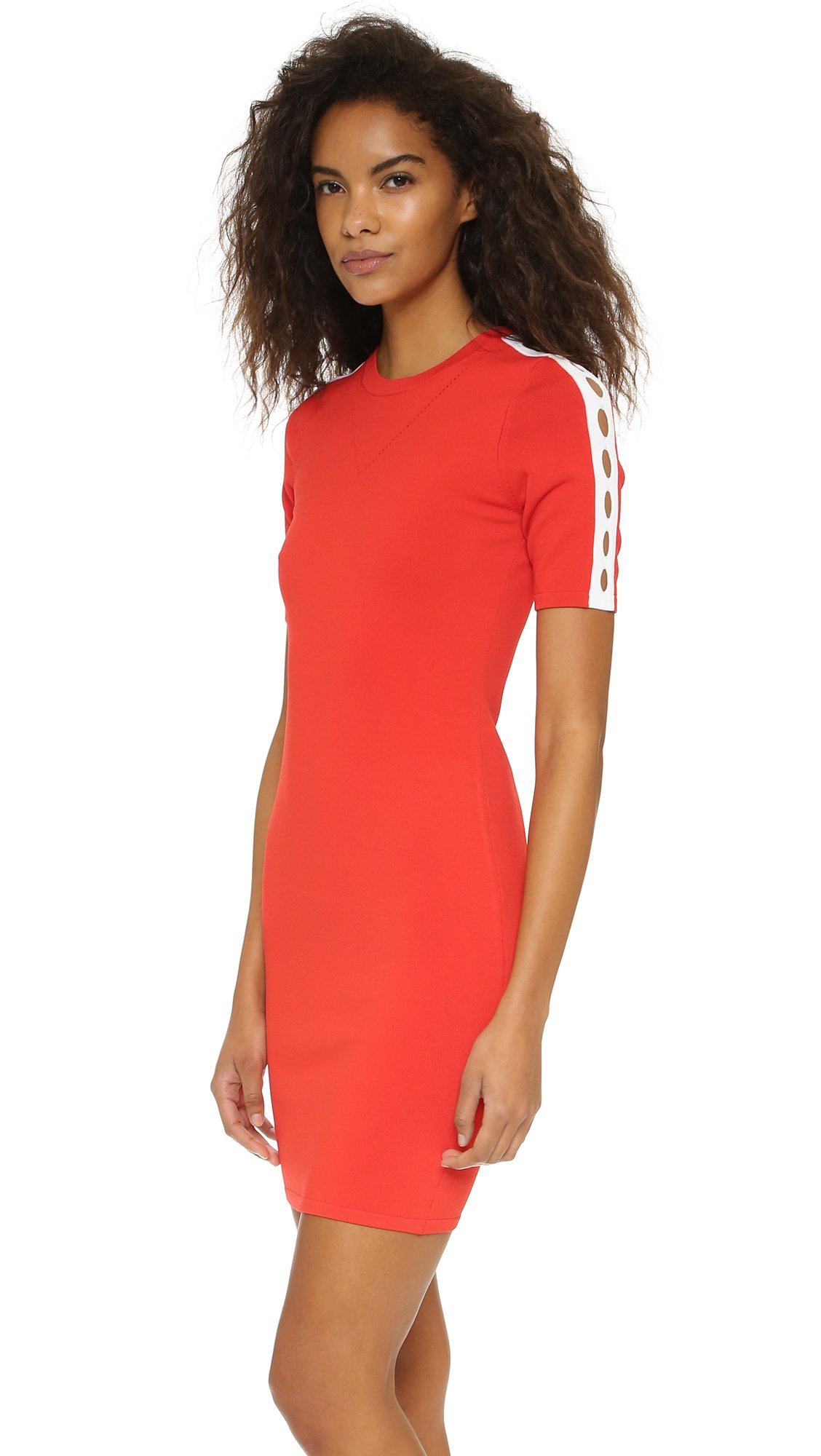 Opening ceremony Cutout Short Sleeve Dress in Red - Lyst
