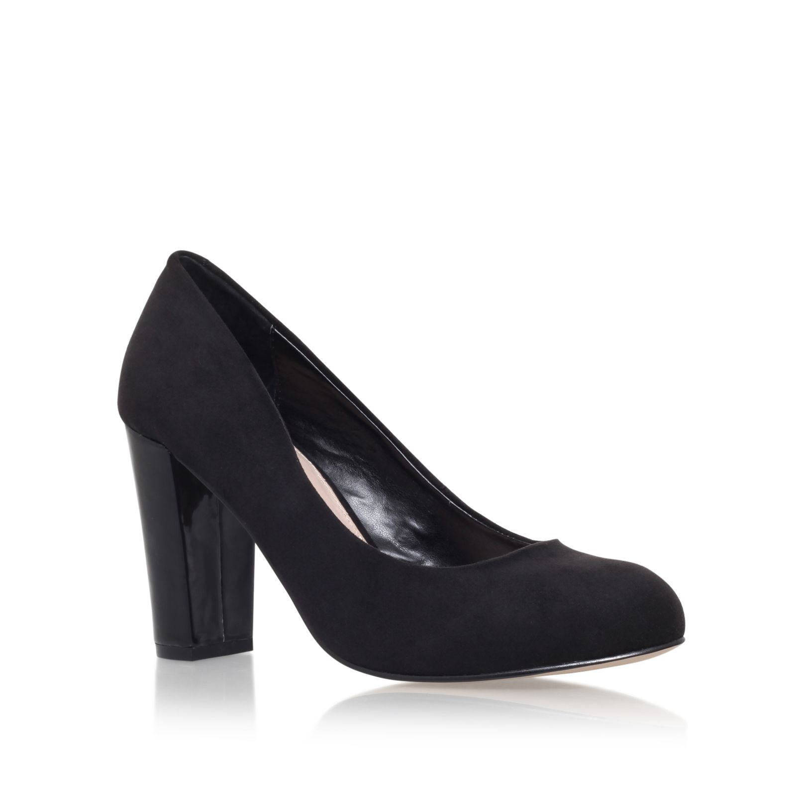Dorothy Perkins Black Glitter Court Shoes