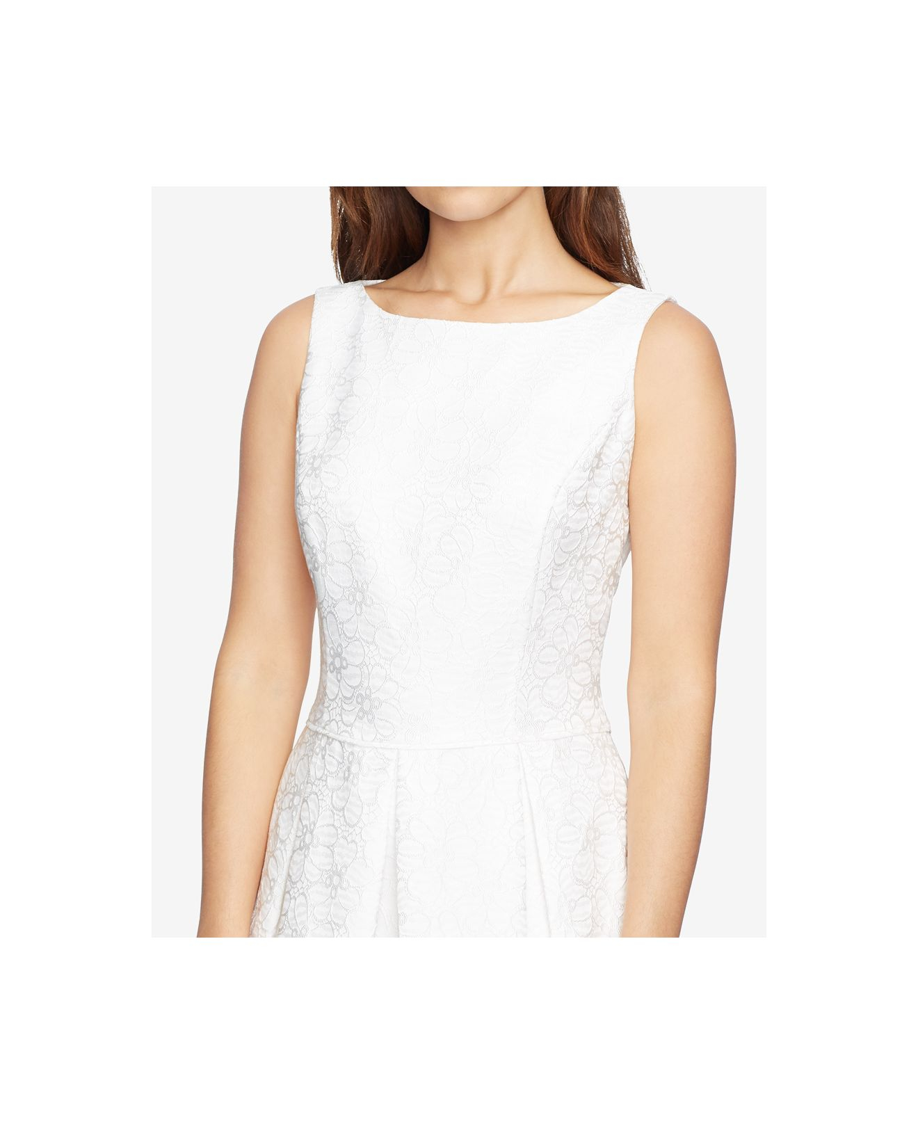 American Living Floral Print Jacquard Dress In White Lyst