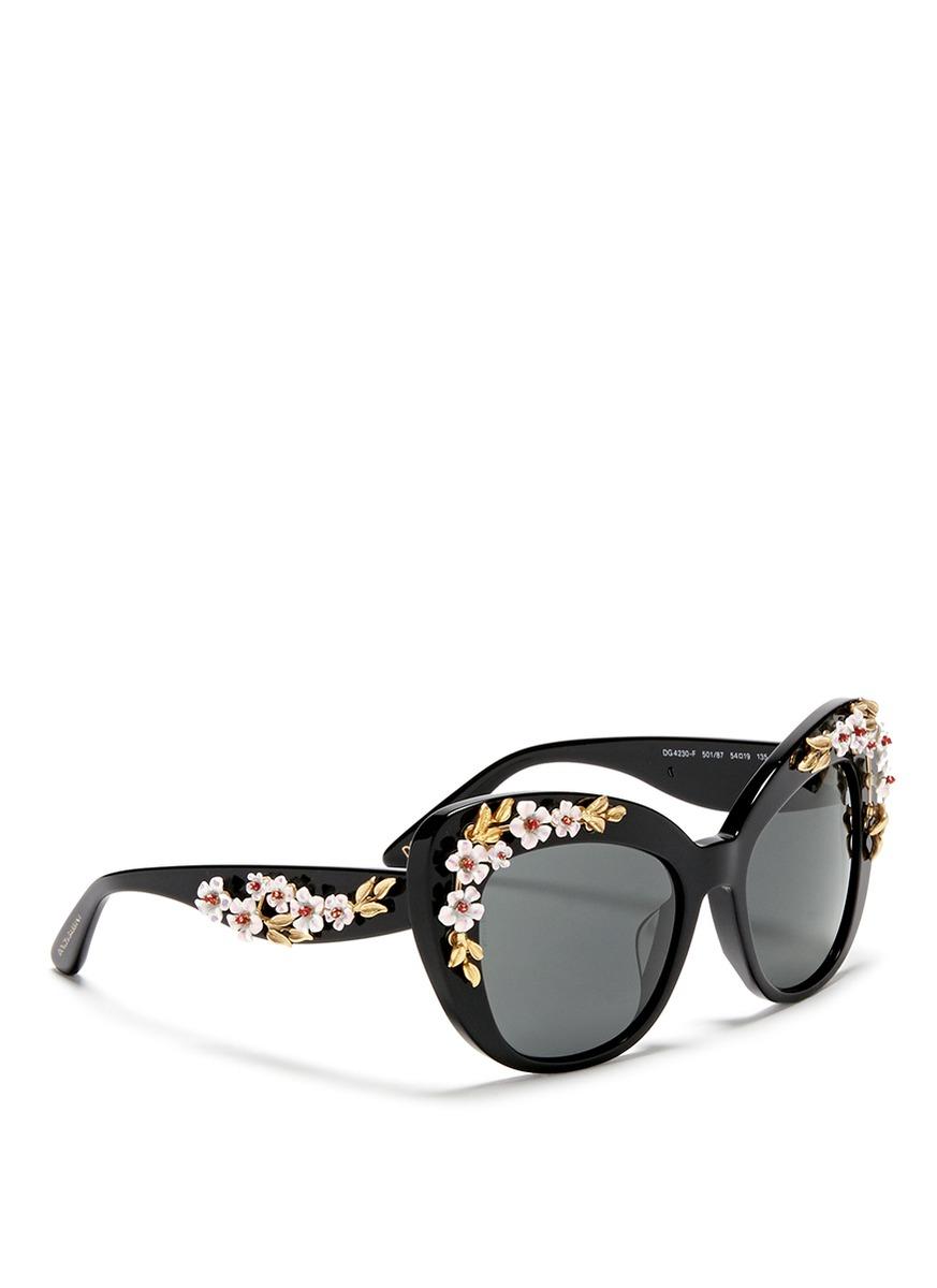 032c4ed58fe Dolce   Gabbana Women s Almond Flowers Cat Eye Acetate Frame Sunglasses