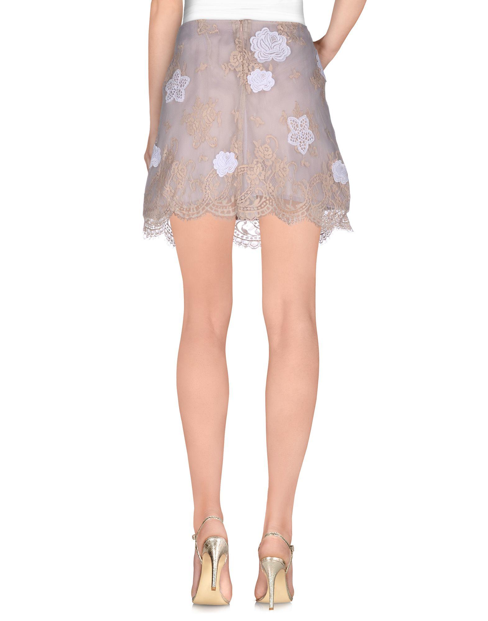 List Mini Skirt in Beige (Camel)  Lyst