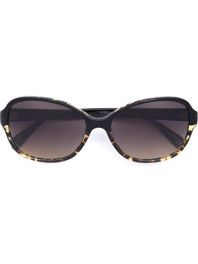 Lyst - Oliver Peoples Brigid Sunglasses in Black