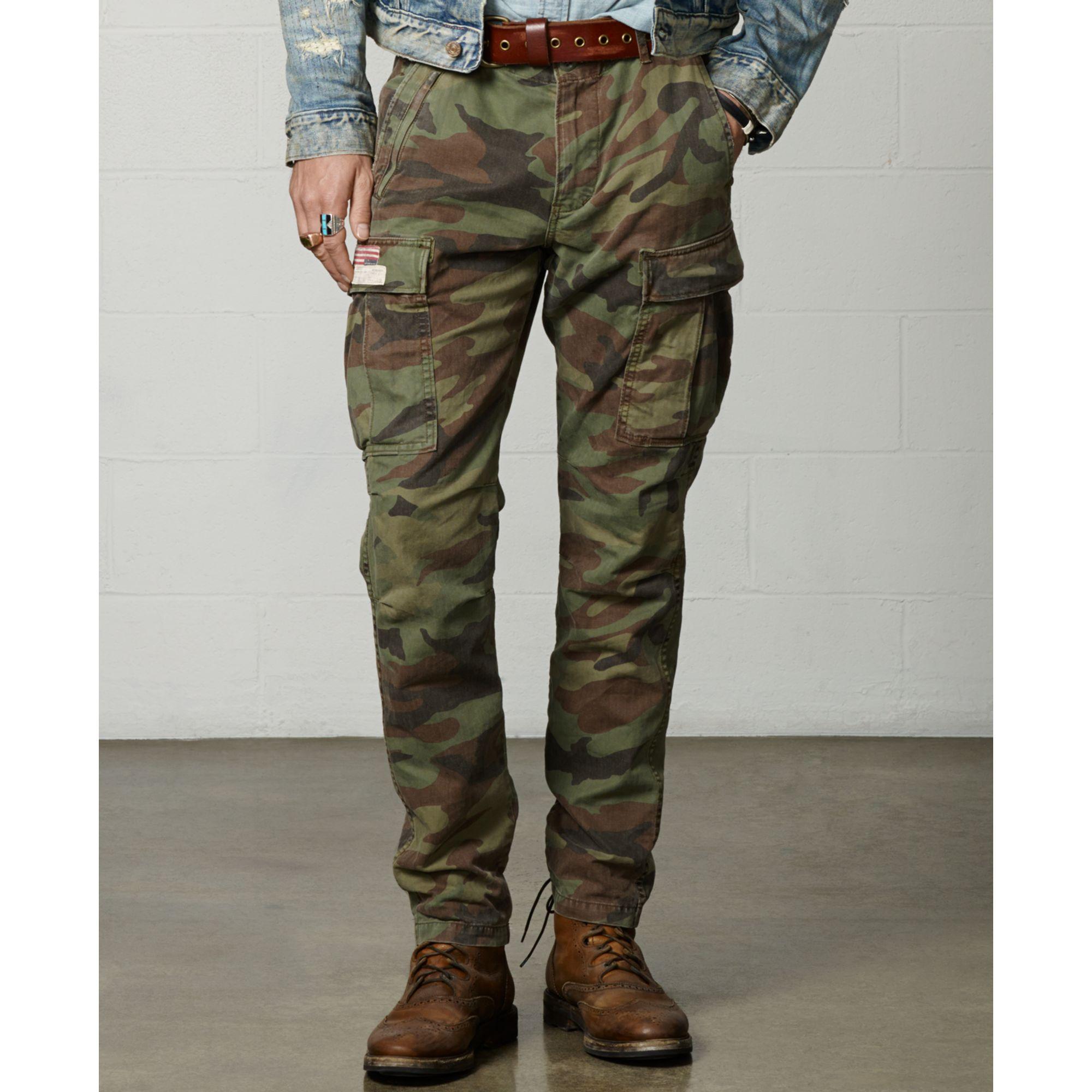 Denim & supply ralph lauren Zippocket Cargo Pants in Green for Men ...