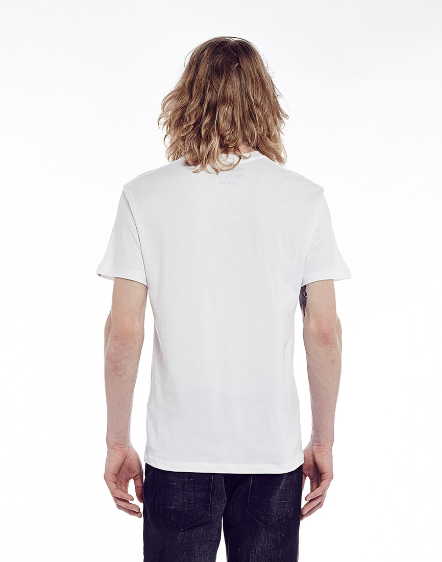 c6a674107d Lyst - Vans Off The Wall Mixed Fill T-Shirt in White for Men