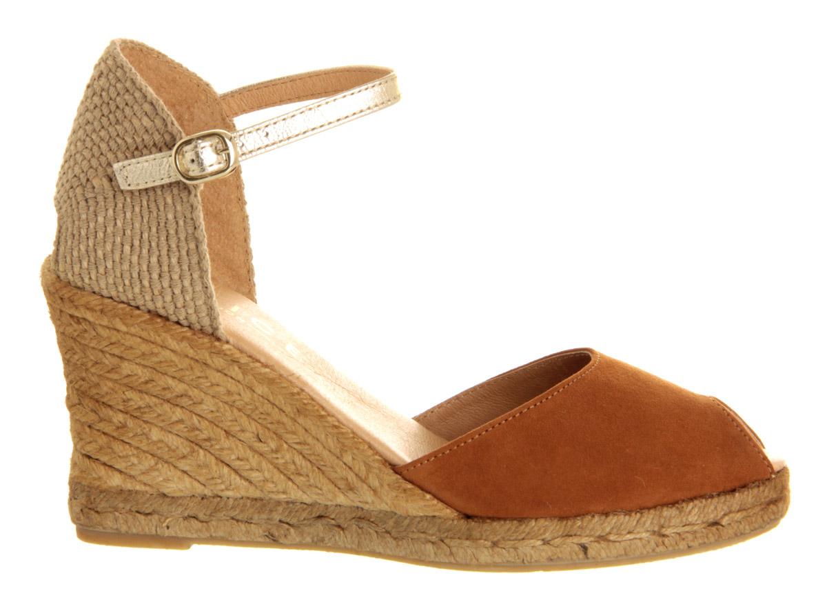 office espadrille wedge sandals in brown lyst