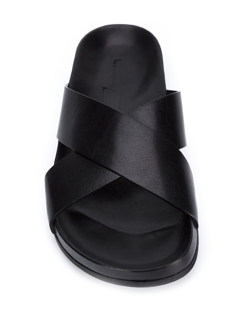 18c1d91404a6 Lyst - Common Projects Criss-Cross Leather Sandals in Black