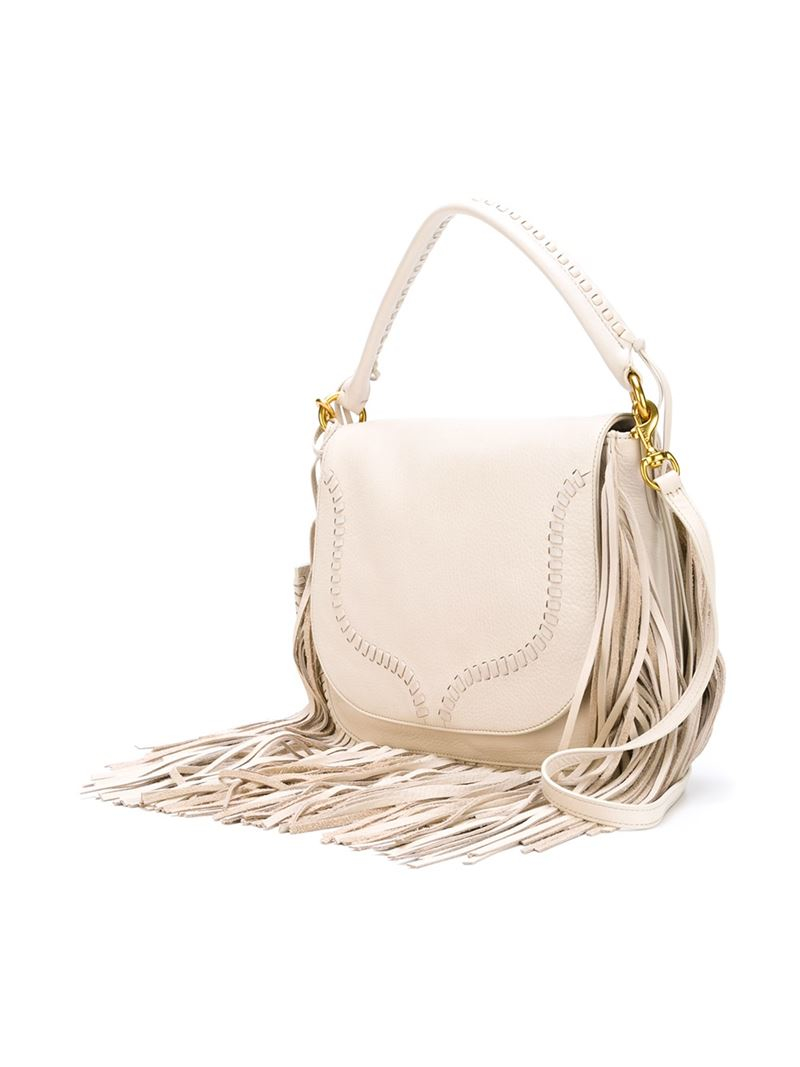 Ralph Lauren Cross Fringed Polo Natural Bag Body DEYWH92I