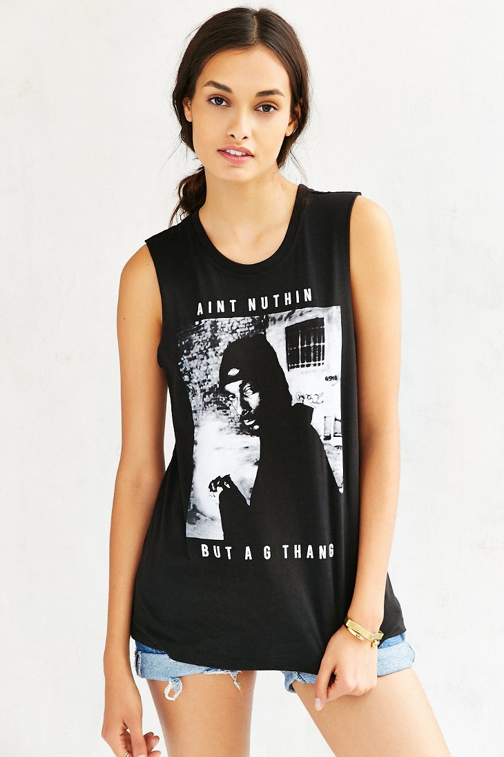 ba1d1eeb Urban Outfitters Snoop Dogg Graphic Muscle Tee in Black - Lyst