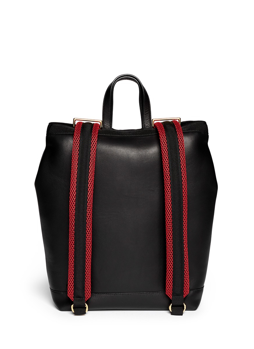 Marni 'parachute' Large Leather Backpack in Black