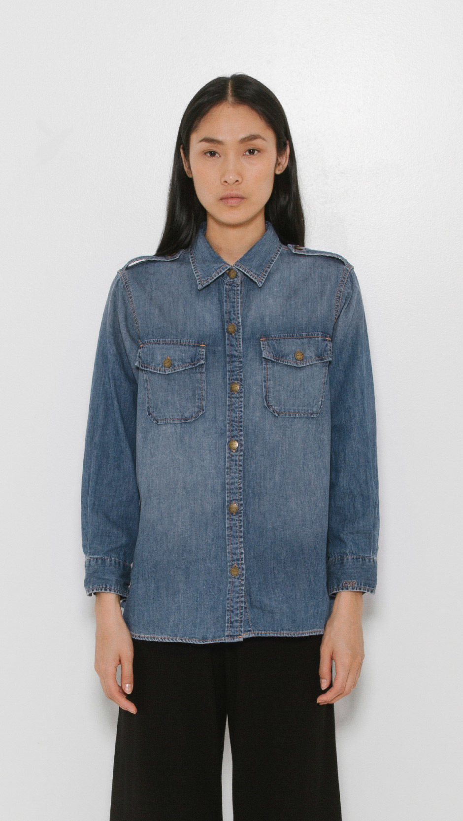 current elliott the perfect shirt in blue lyst