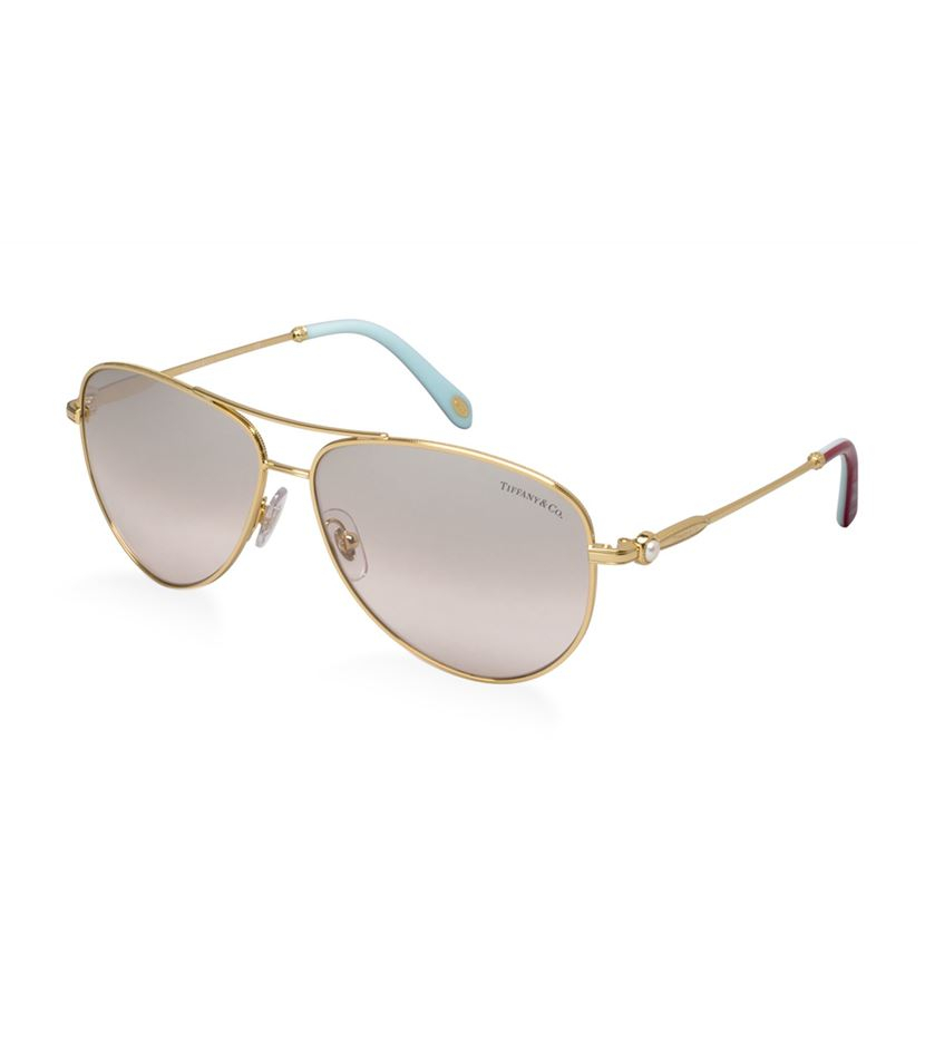 Tiffany & co. Pearl Aviator Sunglasses in Metallic