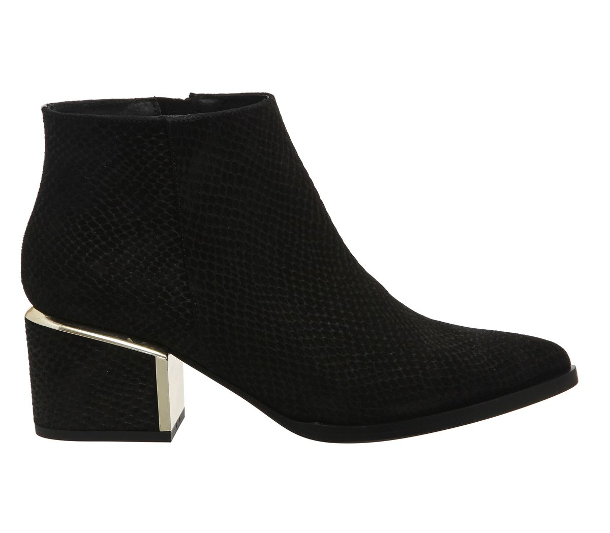 Office Immortal Metal Heeled Boots in Black