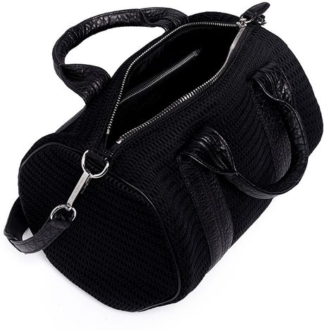 alexander wang rocco stud base mesh leather duffle bag in. Black Bedroom Furniture Sets. Home Design Ideas