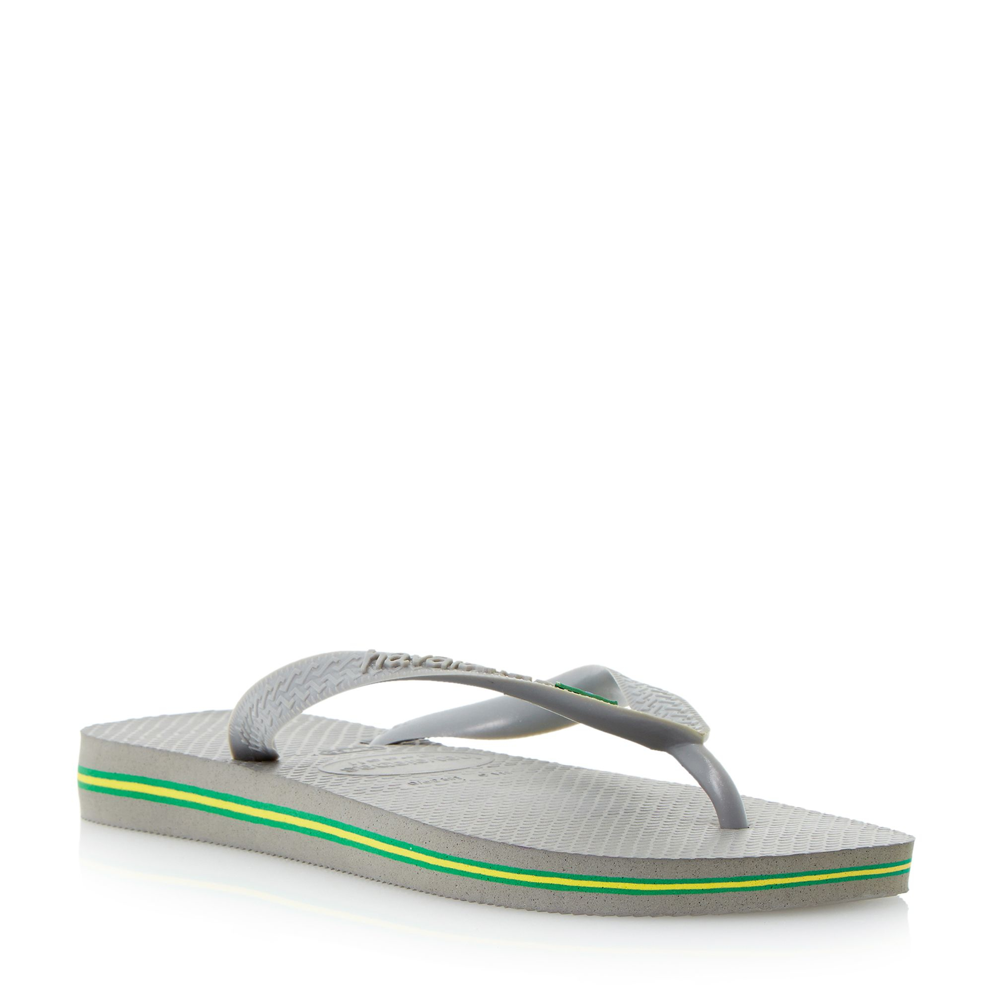 havaianas classic flag slip on casual flip flops in gray