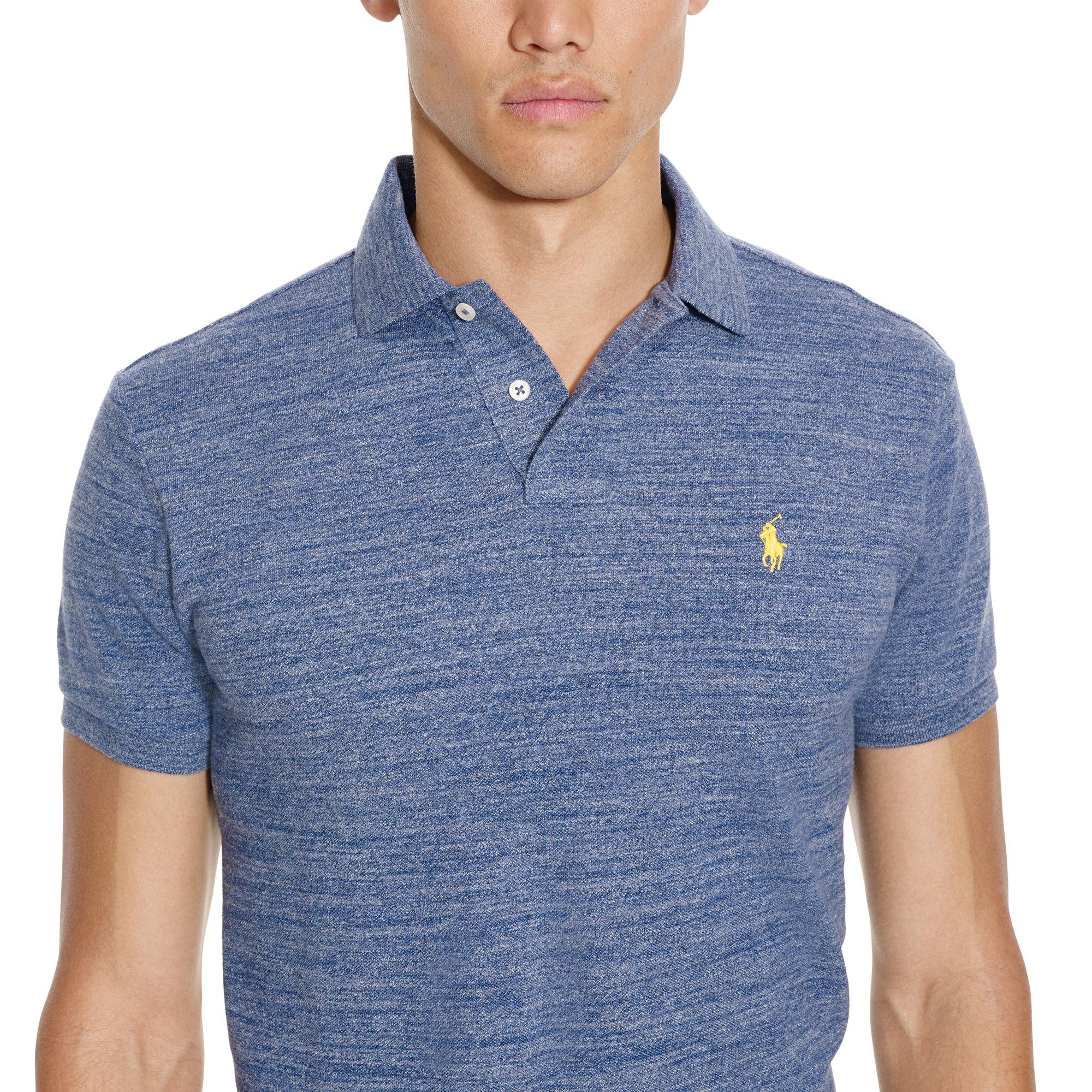 Fit Blue Polo Custom Men Lauren Shirt Ralph Mesh For bgf76yY