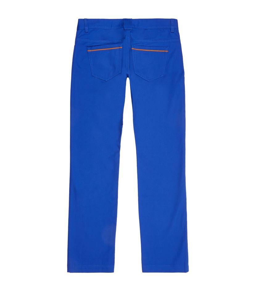Billionaire Denim Leather Trim Slim Jeans in Blue for Men