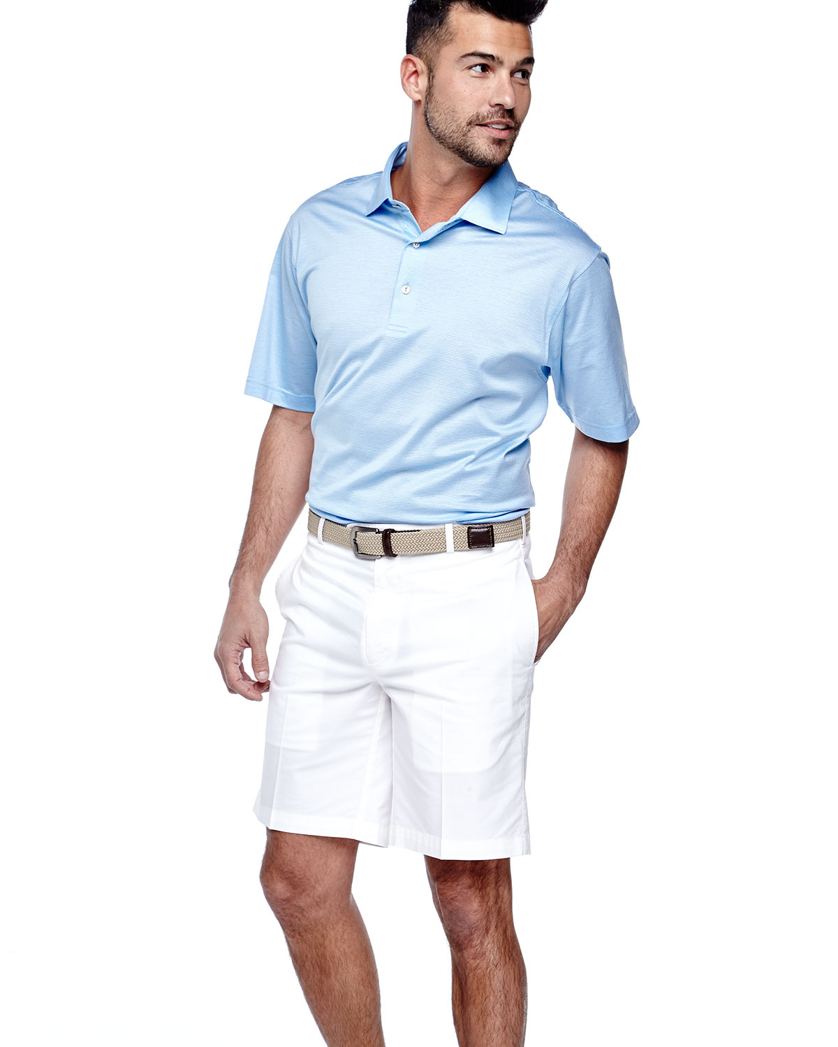 Peter millar relaxed solid twill shorts white in white lyst for Peter millar women s golf shirts
