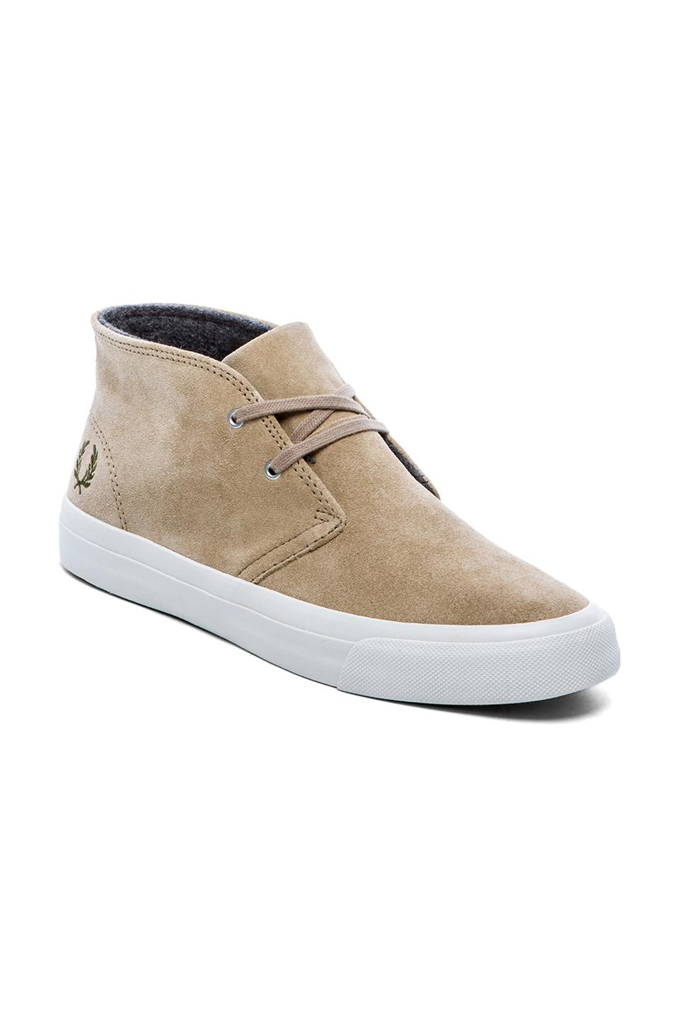 Lyst Fred Perry Vernon Mid Sneaker In Natural For Men