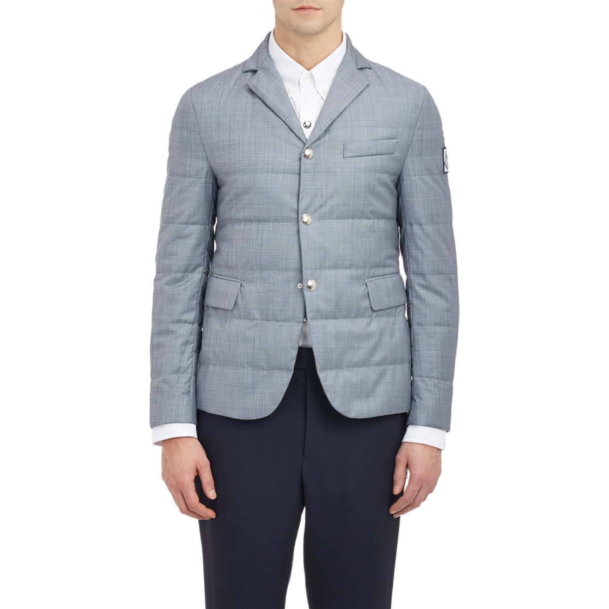 e5416bfef Lyst - Moncler Gamme Bleu Quilted Twill Jacket in Gray for Men