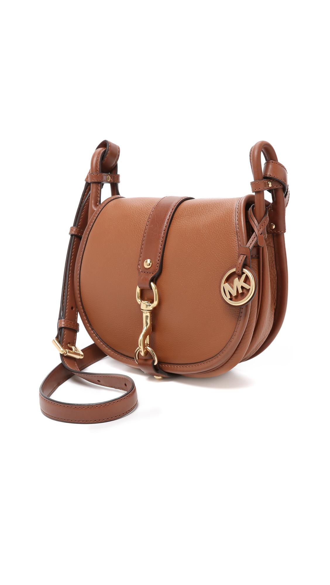 2b171862 MICHAEL Michael Kors Jamie Saddle Bag in Brown - Lyst