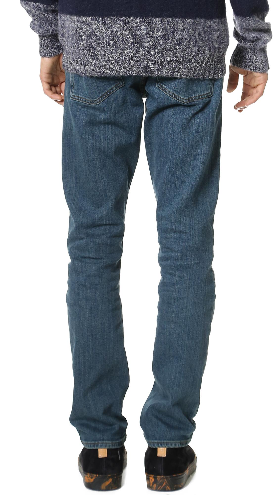 RVCA Denim Daggers Slim Fit Jeans in Vintage Blue (Blue) for Men