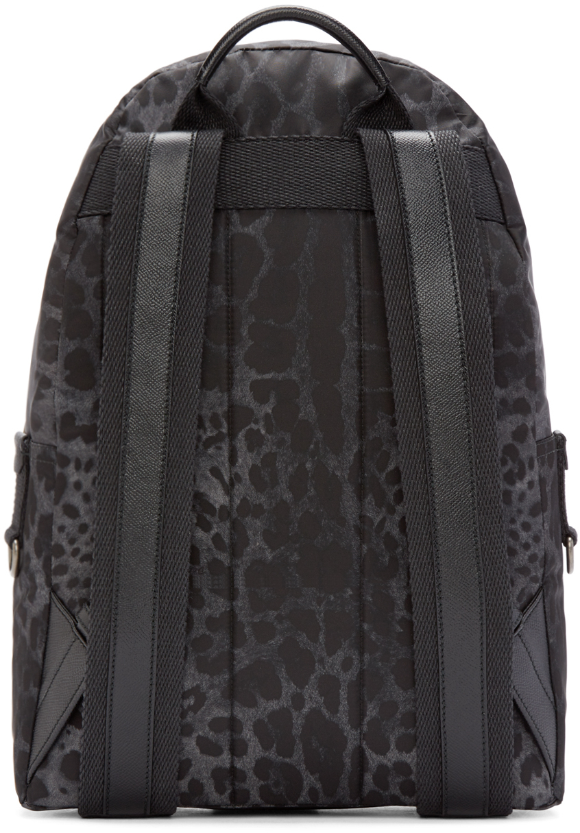 Dolce Amp Gabbana Synthetic Black Leopard Print Volcano