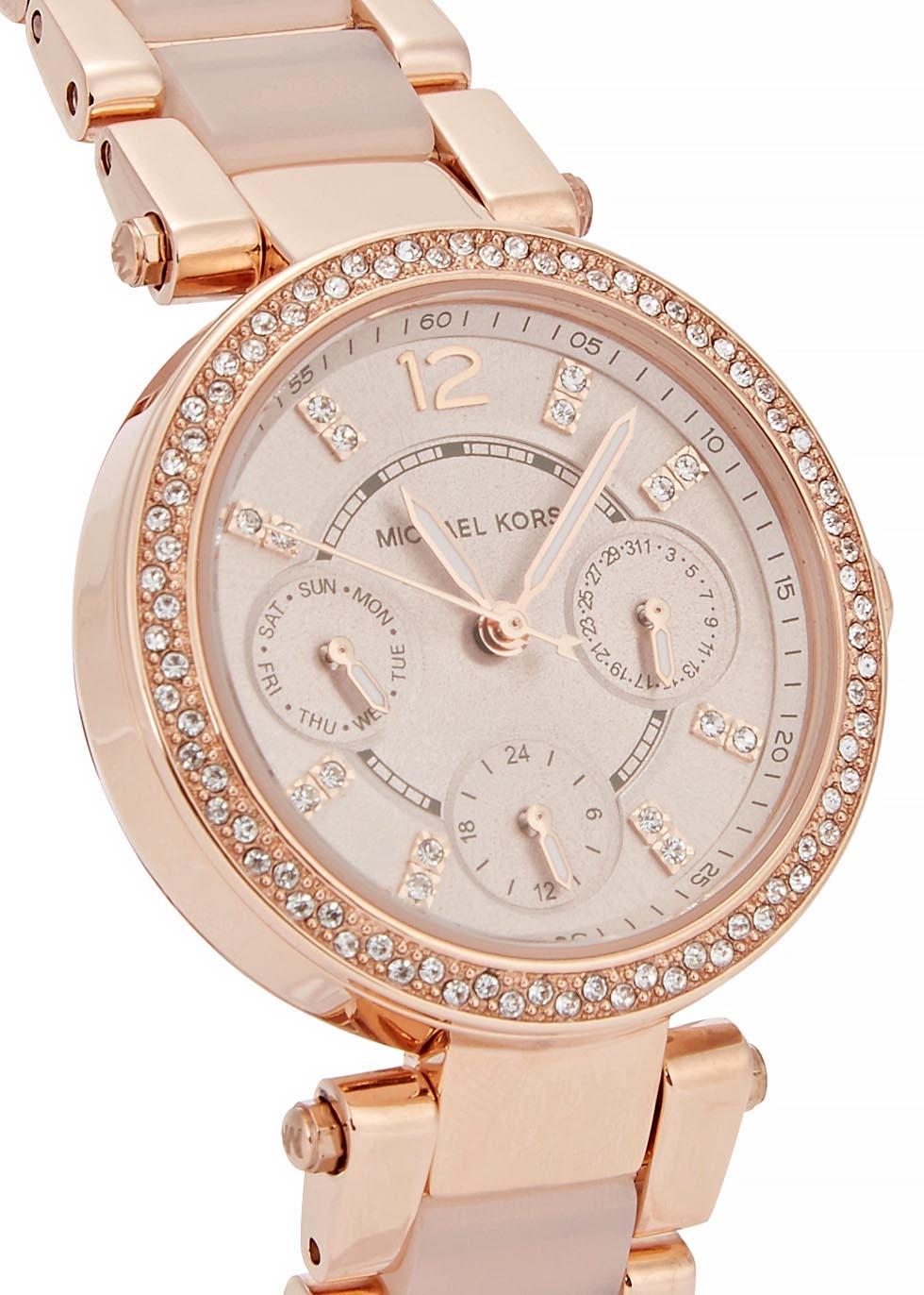 29095868ed9b Michael Kors Mk5896 Parker Chronograph Bracelet Watch In Rose Gold ...
