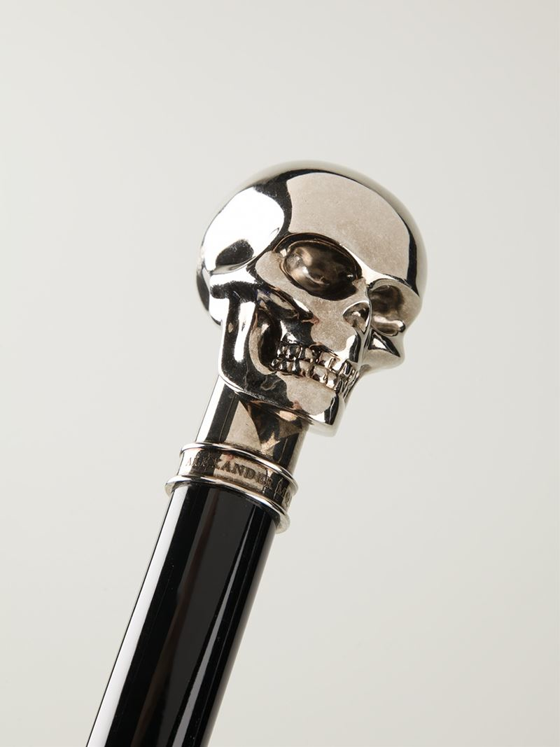 Alexander Mcqueen Skull Cane In Black For Men Lyst