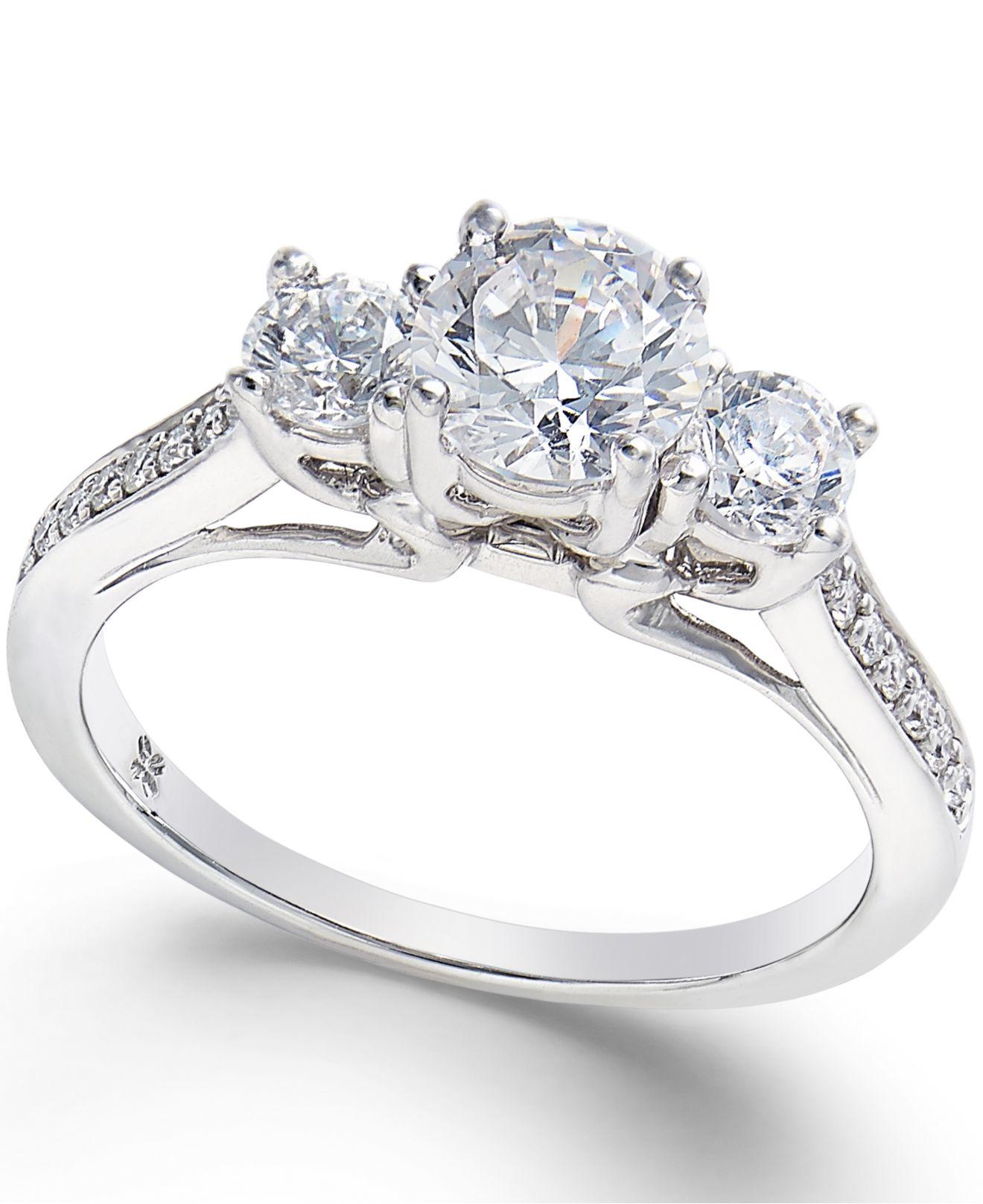 Macy's Diamond 3-stone Engagement Ring (1-1/10 Ct. T.w