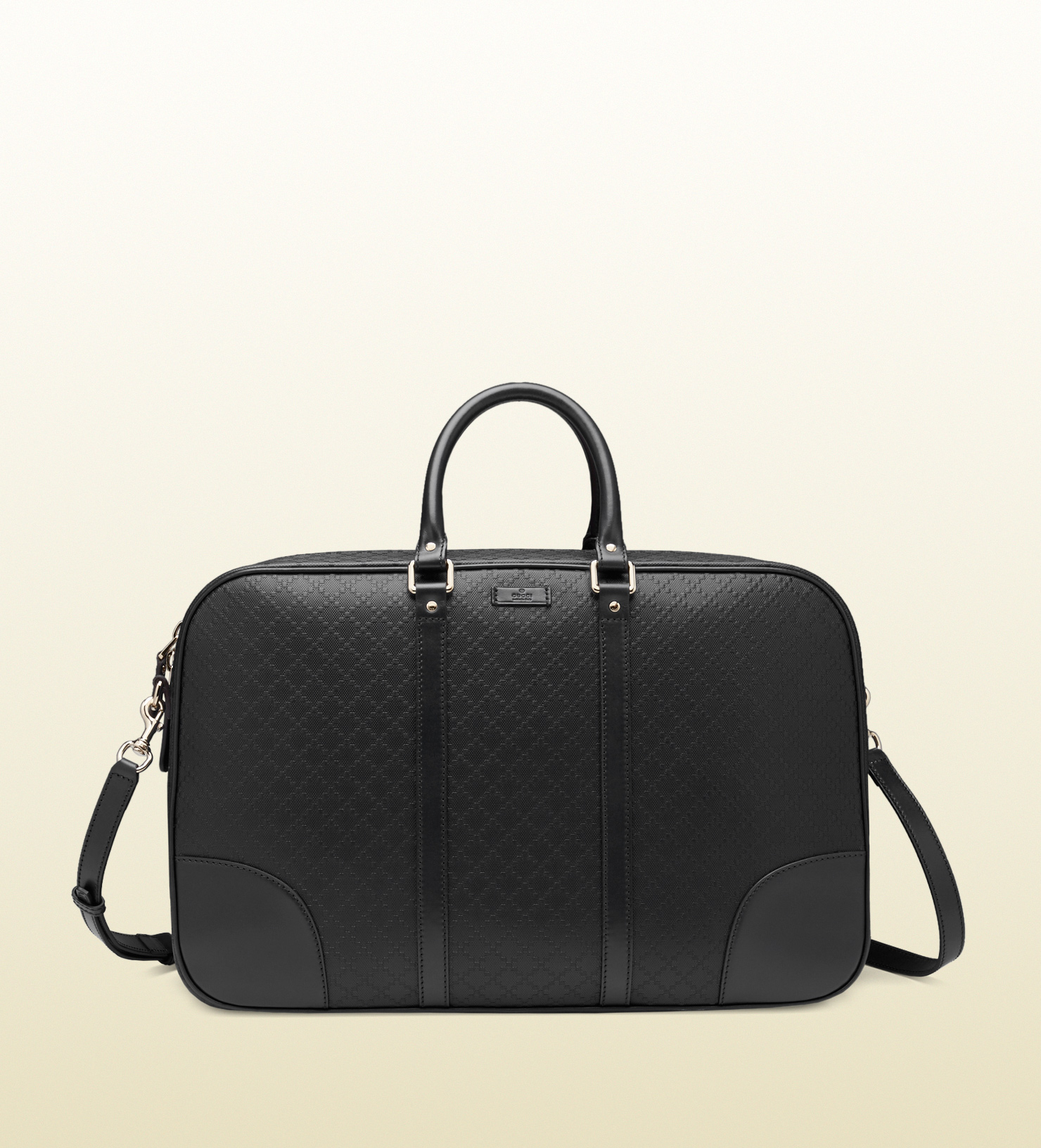 86ced9f863d5 Gucci Bright Diamante Leather Duffle Bag in Black - Lyst
