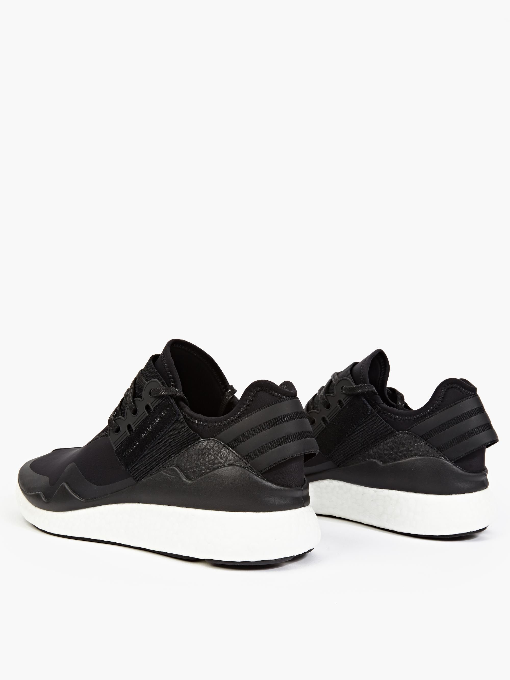 y 3 black retro boost sneakers in black for men lyst. Black Bedroom Furniture Sets. Home Design Ideas