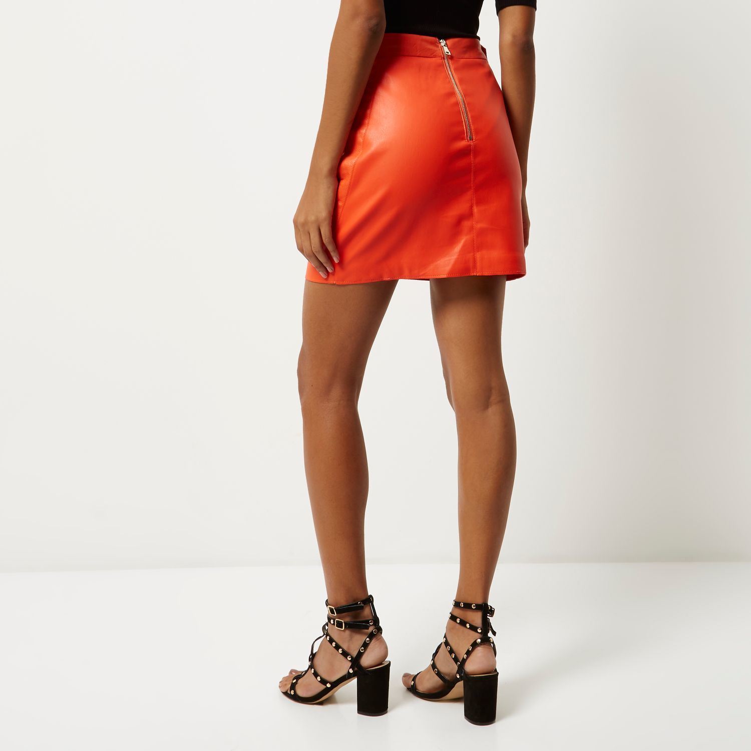 f28444ebb0 Red Leather Pencil Skirt River Island | Saddha
