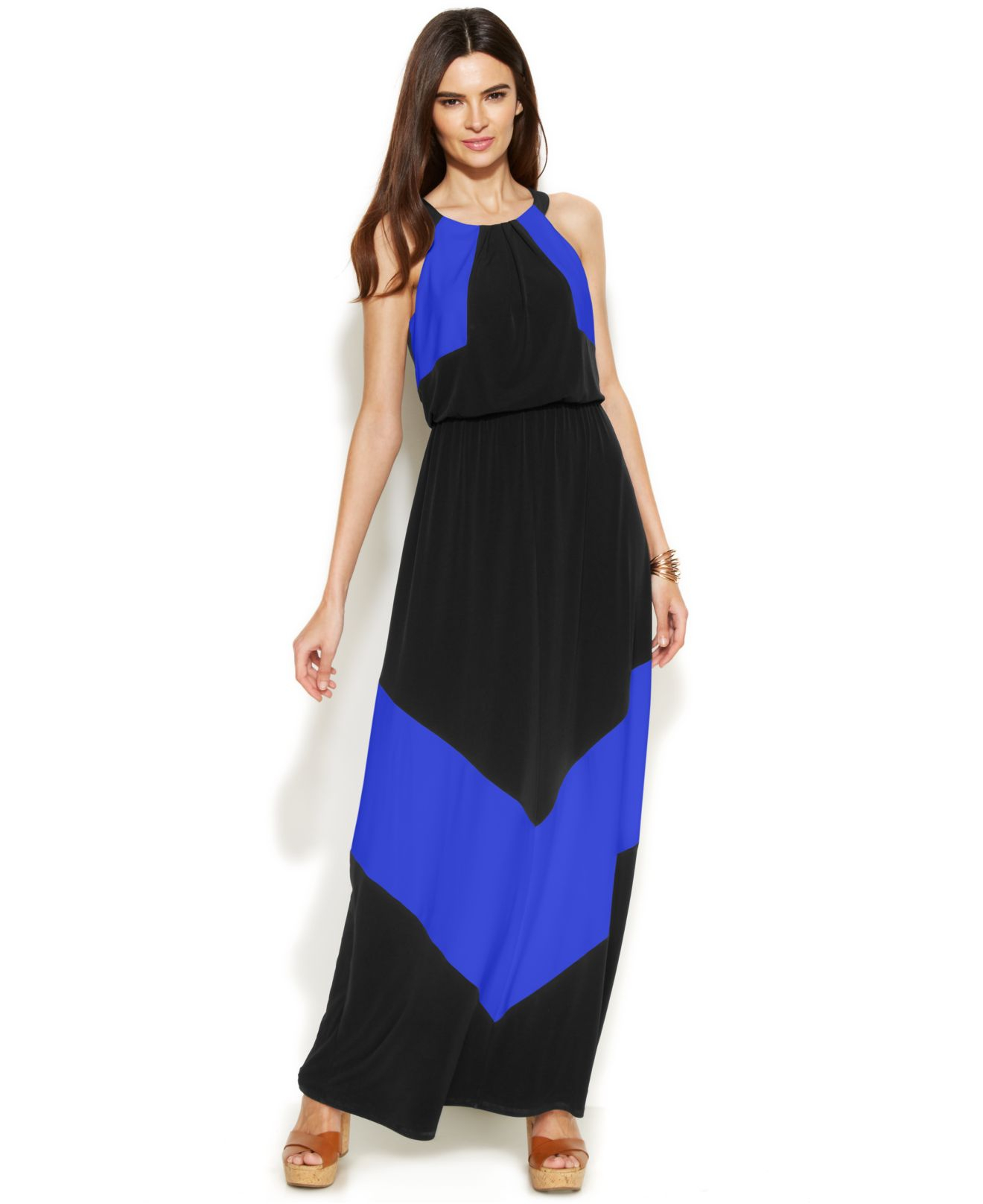 Vince colorblock maxi dress