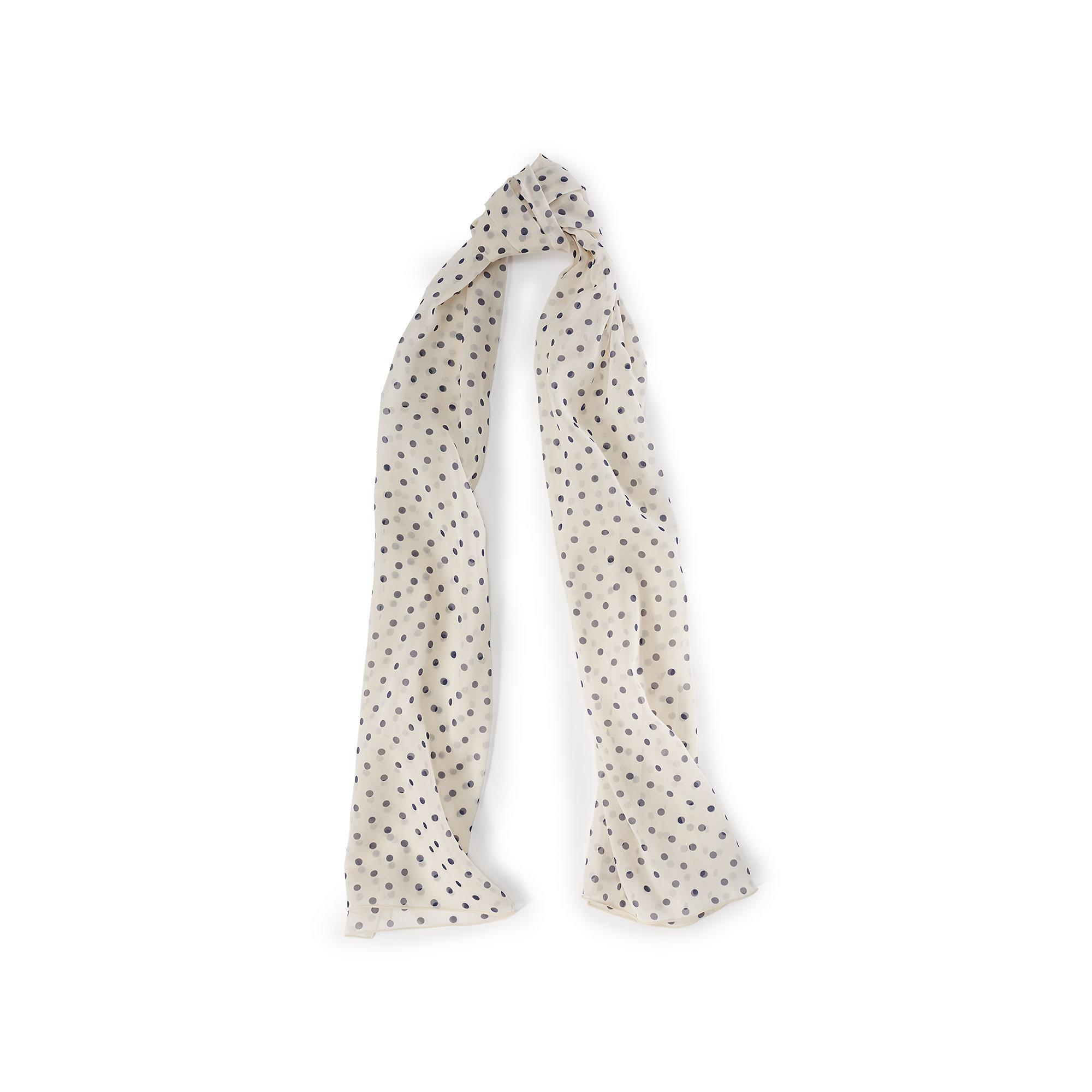 ralph polka dot silk georgette scarf in lyst