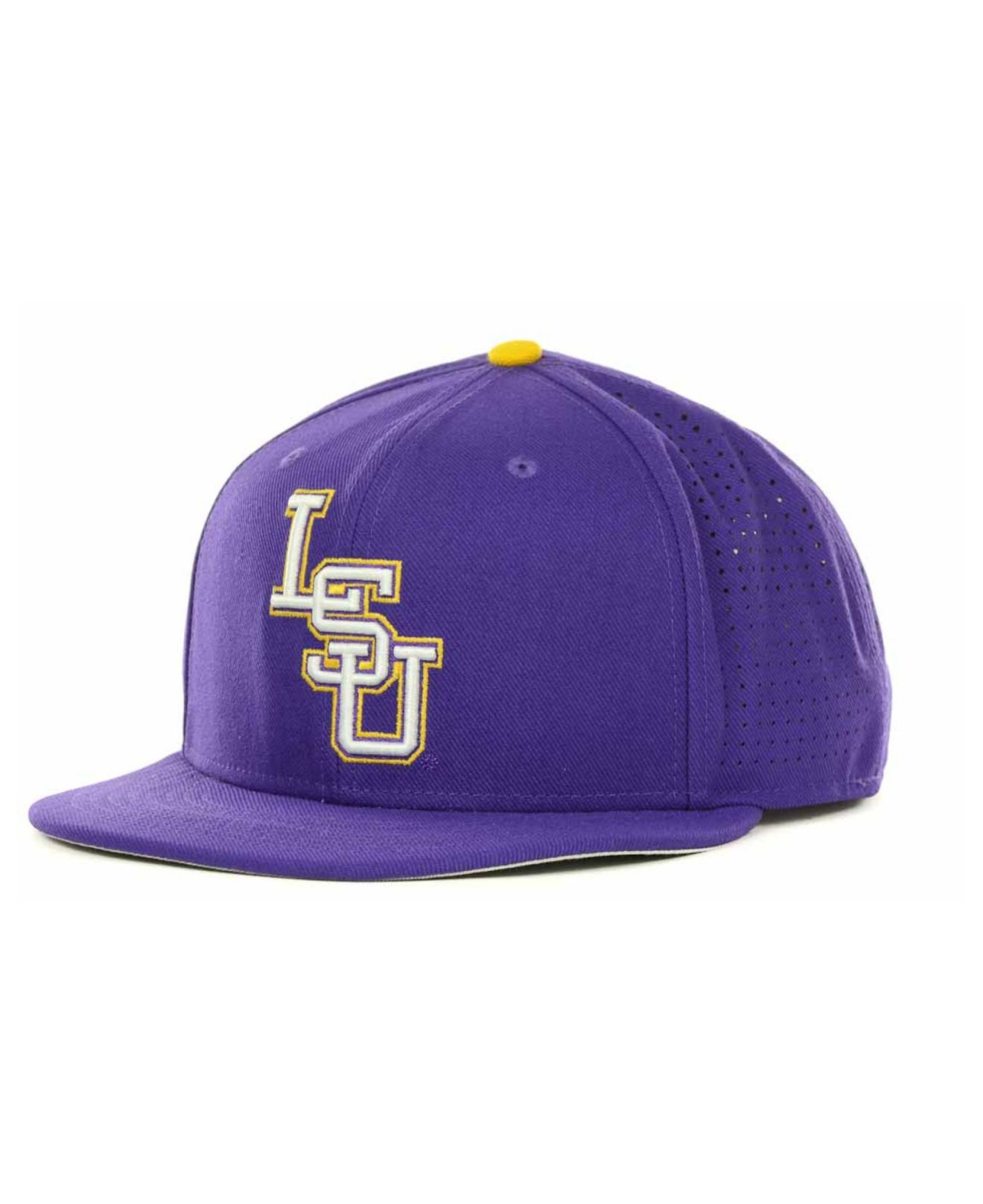 best loved ef0cb 6a8b8 ... cheap lyst nike lsu tigers ncaa authentic vapor fitted cap in purple  for men 4258b 54701