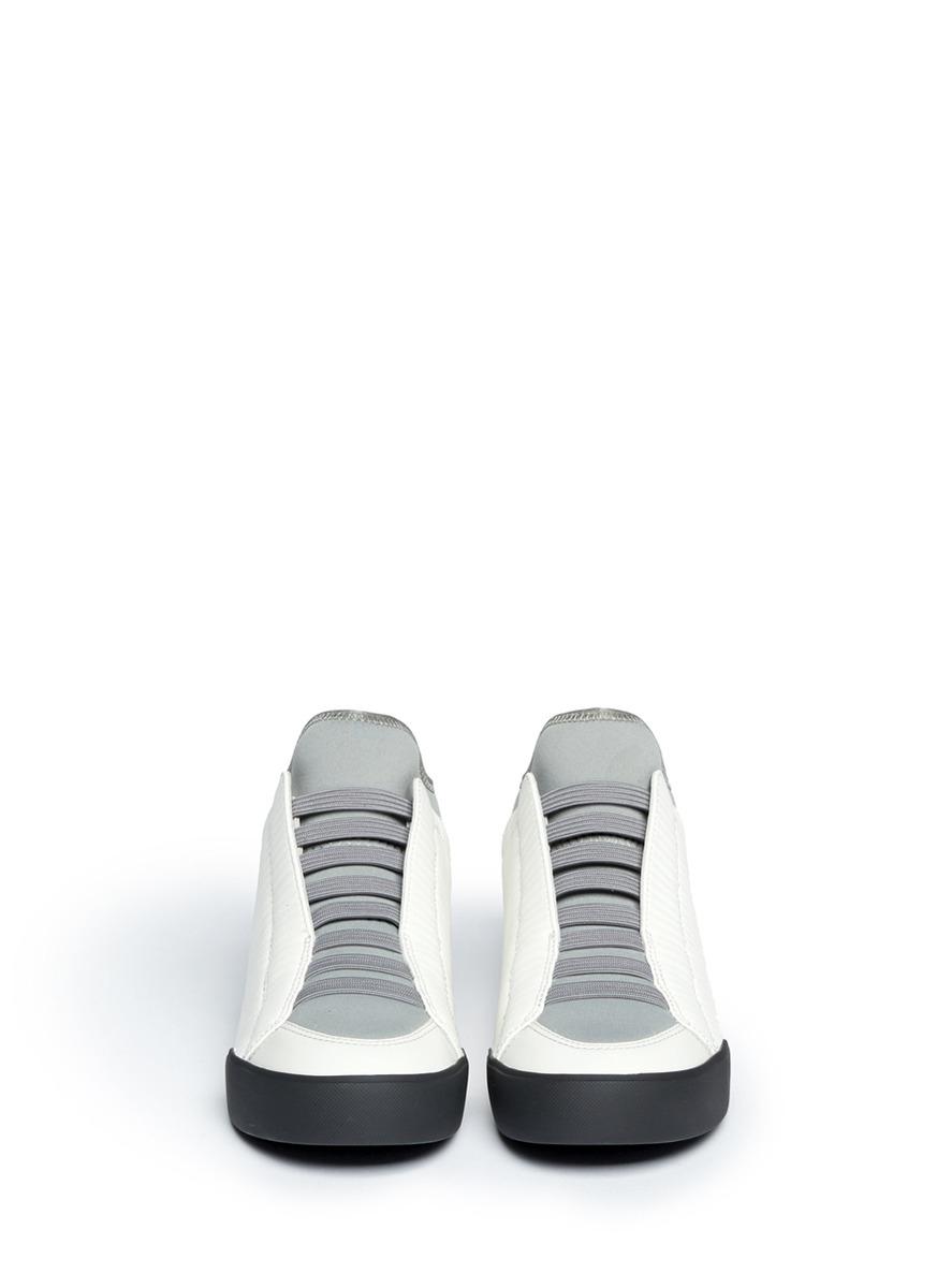3.1 Phillip Lim Denim 'morgan' High Top Sneakers in Grey