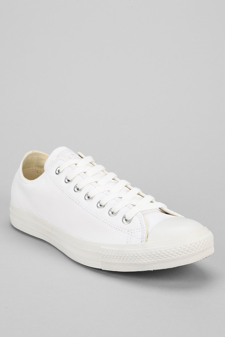 82fa679cebc6 ... italy lyst converse chuck taylor all star leather low top mens sneaker  b46ef c8364